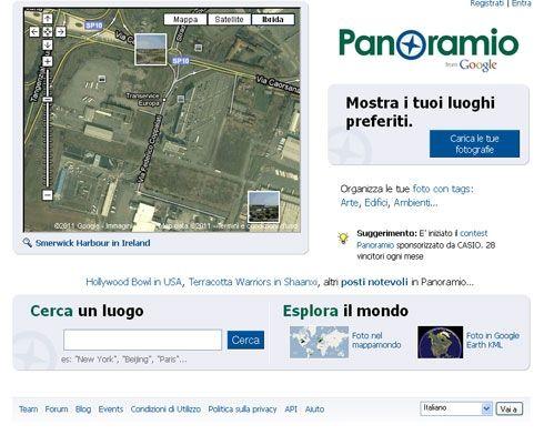 panoramio home page