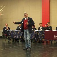 Stefano Torre parla al gruppo di imprenditori del capitolo BNI Galileo di piacenza