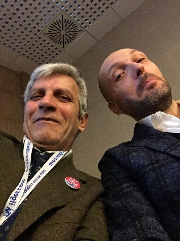 selfie tra Massimiliano Stella e Stefano Torre