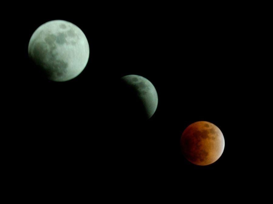 eclisse lunare fotocomposizione