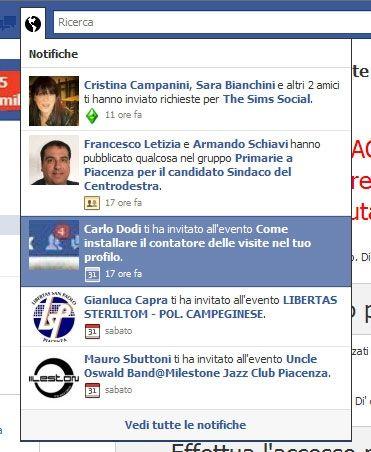 Truffa su Facebook: il contatore degli accessi sul profilo