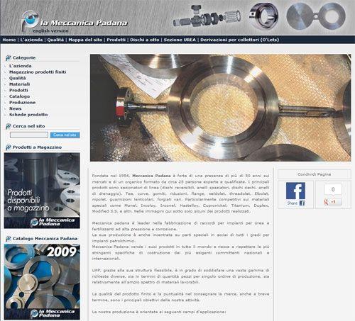Meccanica Padana online con il nuovo sito web