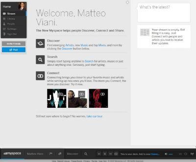 E' arrivato il nuovo MySpace, social network della musica