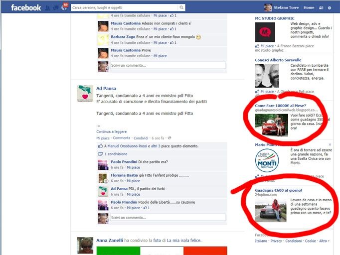 guadagni facili su facebook