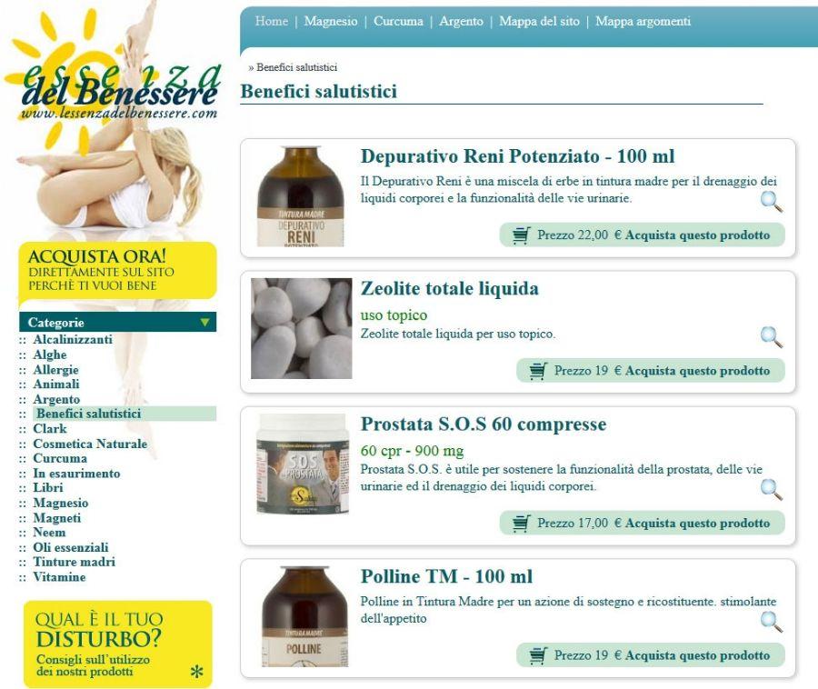 L'essenza del benessere per la vendita di prodotti naturali online