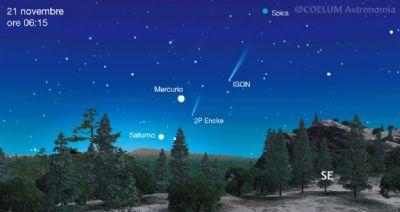 La cometa ison è visibile all'alba
