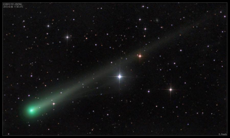 foto della cometa ison