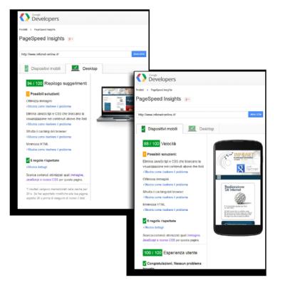 """Google page speed """"tutto verde"""""""