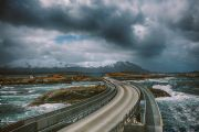 atlantic road: nuvole