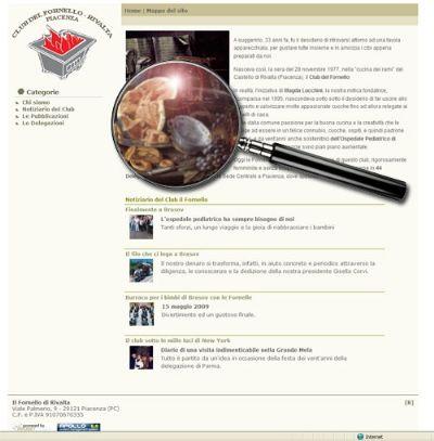 Online il sito del Club del Fornello