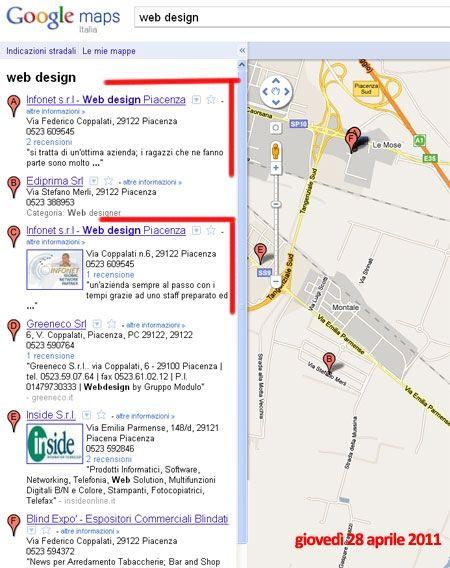 serp maps 20110428 web design a piacenza